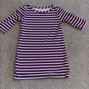 Burgundy striped girls old navy dress size 5T